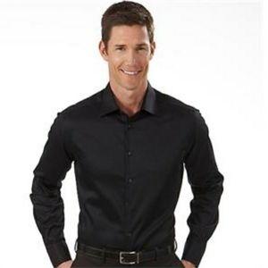 Geoffrey Beene Black Dress Shirt Regular Fit